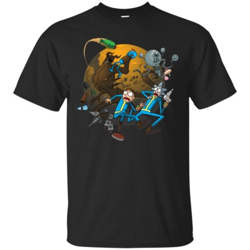image 366 490x490px Rick and Morty Meet Fallout Mashup Design T Shirts, Hoodies