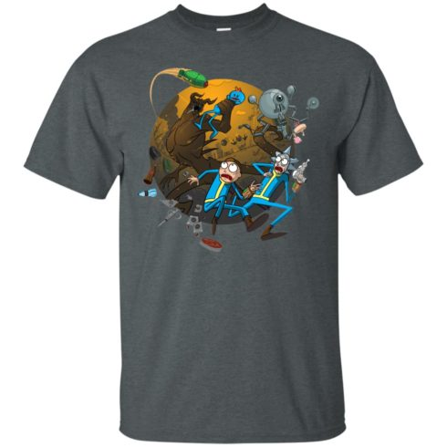 image 367 490x490px Rick and Morty Meet Fallout Mashup Design T Shirts, Hoodies