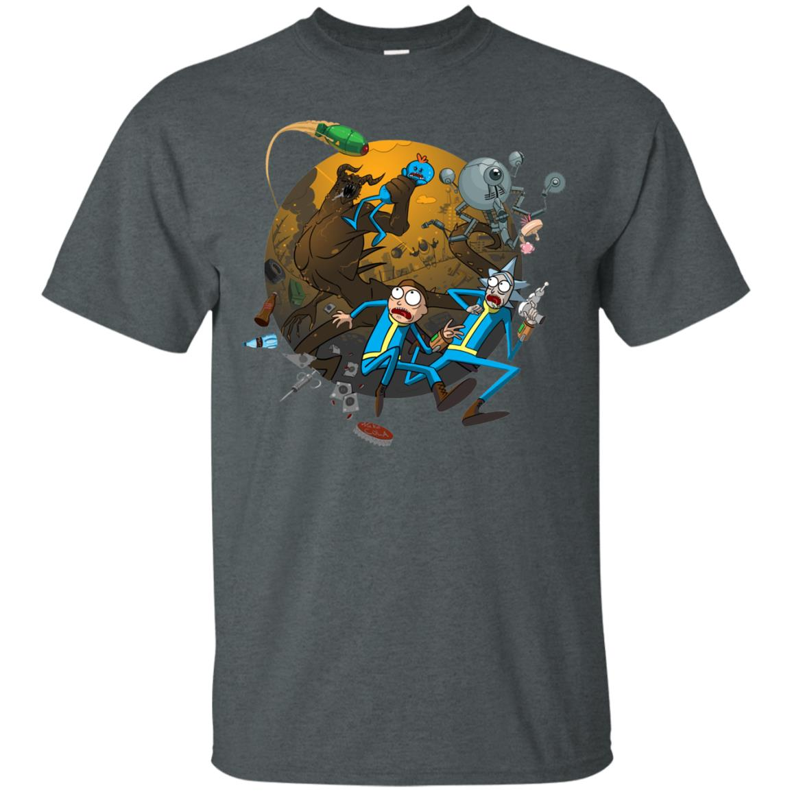 image 367px Rick and Morty Meet Fallout Mashup Design T Shirts, Hoodies