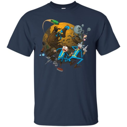 image 368 490x490px Rick and Morty Meet Fallout Mashup Design T Shirts, Hoodies