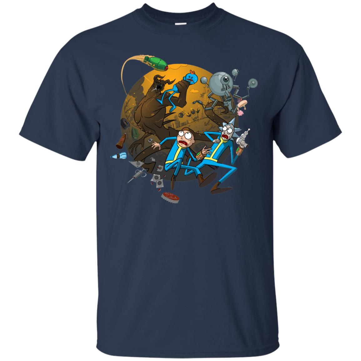 image 368px Rick and Morty Meet Fallout Mashup Design T Shirts, Hoodies
