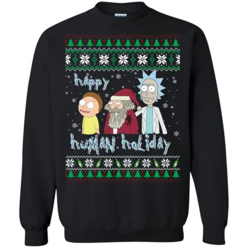 image 450 490x490px Rick and Morty: Happy Human Holiday Christmas Sweater