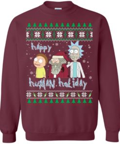 image 451 247x296px Rick and Morty: Happy Human Holiday Christmas Sweater