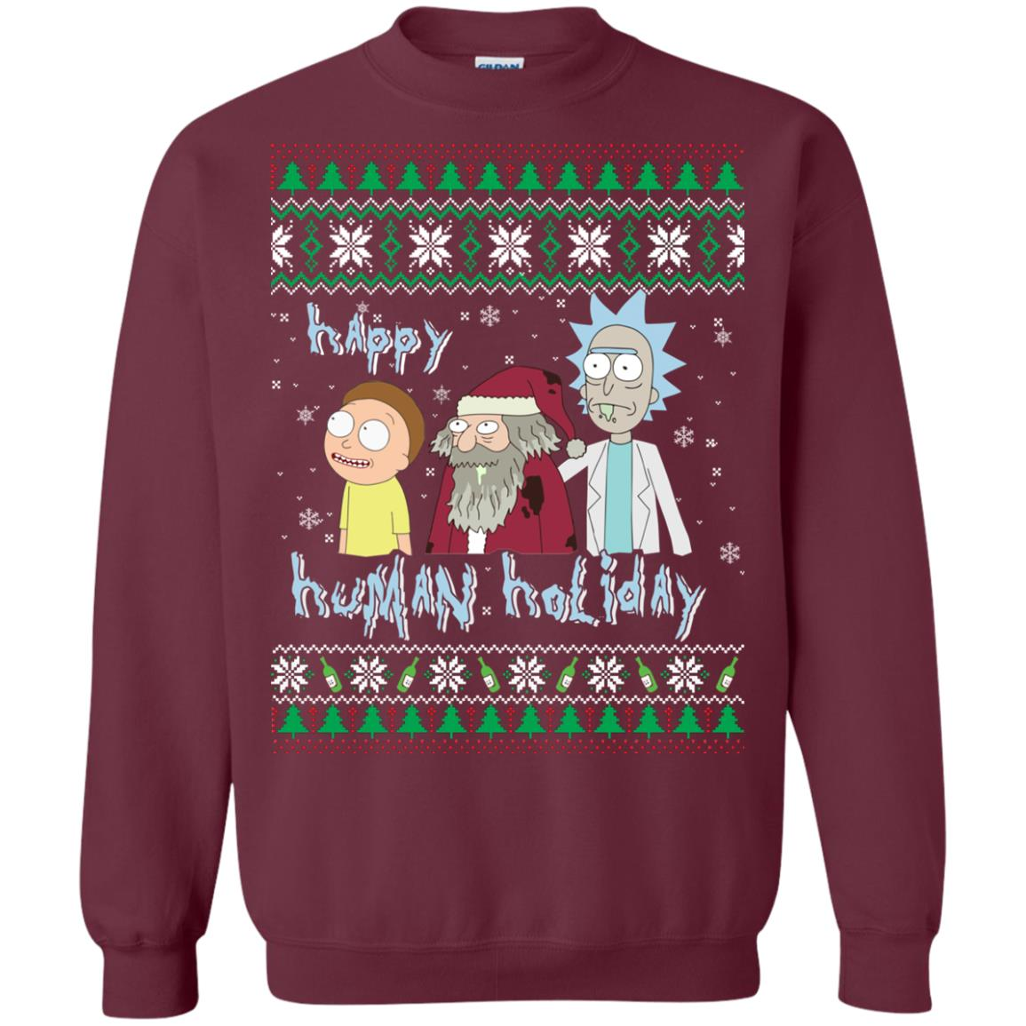 image 451px Rick and Morty: Happy Human Holiday Christmas Sweater