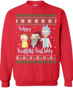 image 453 247x296px Rick and Morty: Happy Human Holiday Christmas Sweater