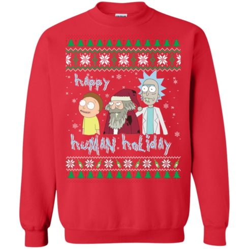 image 453 490x490px Rick and Morty: Happy Human Holiday Christmas Sweater