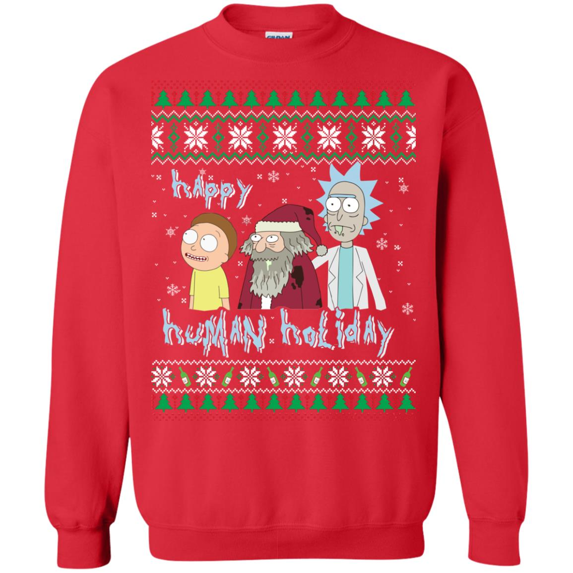 image 453px Rick and Morty: Happy Human Holiday Christmas Sweater