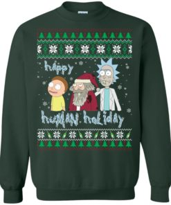image 454 247x296px Rick and Morty: Happy Human Holiday Christmas Sweater