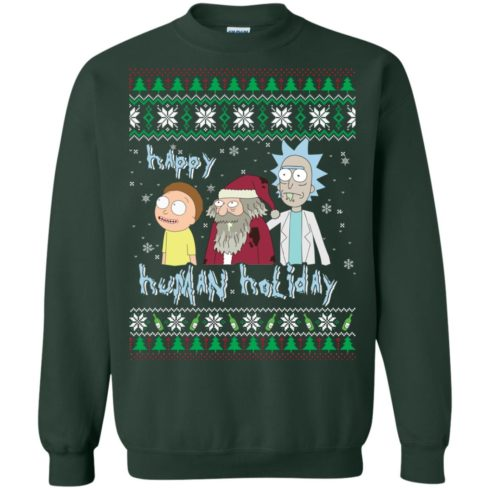 image 454 490x490px Rick and Morty: Happy Human Holiday Christmas Sweater