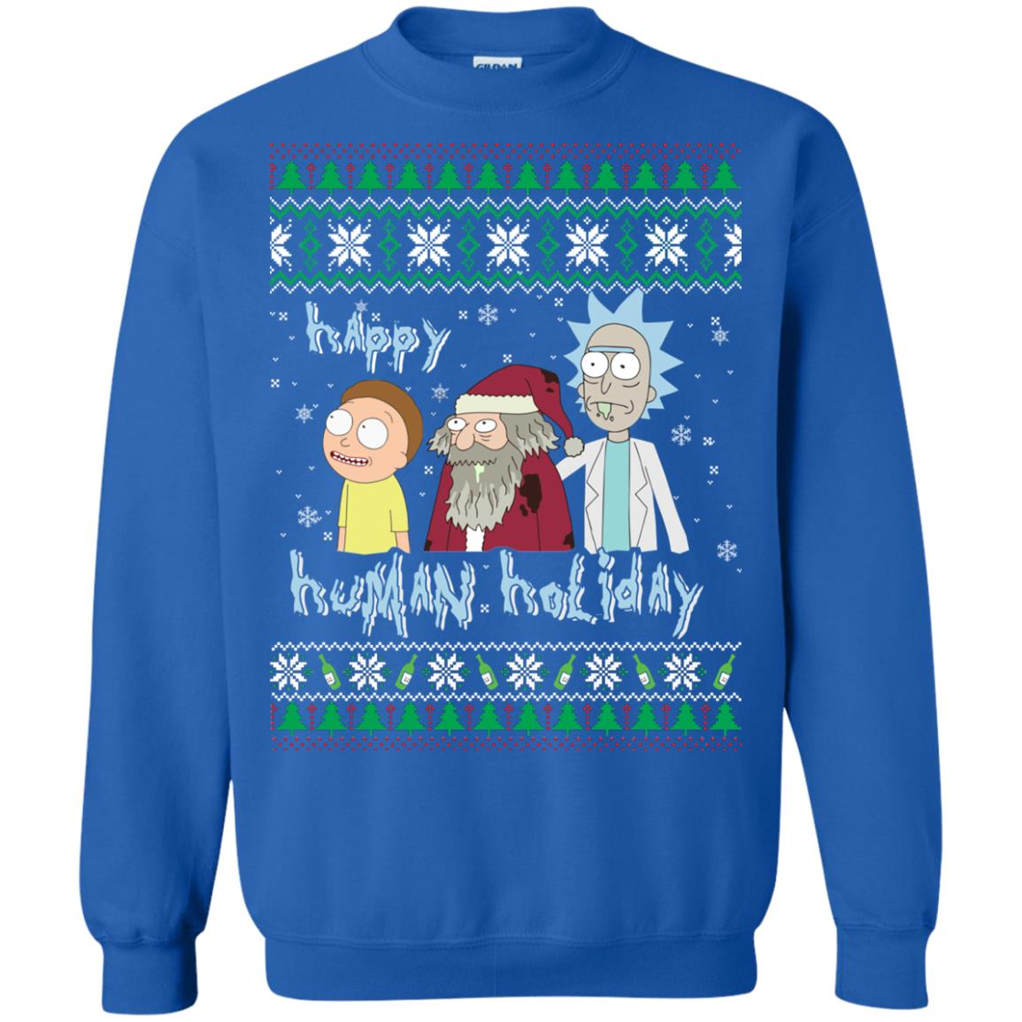 image 455px Rick and Morty: Happy Human Holiday Christmas Sweater