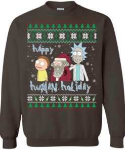 image 456 247x296px Rick and Morty: Happy Human Holiday Christmas Sweater