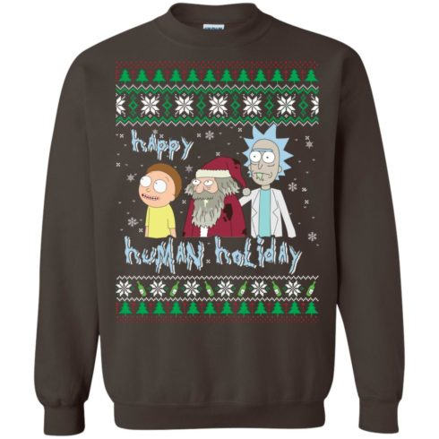 image 456 490x490px Rick and Morty: Happy Human Holiday Christmas Sweater