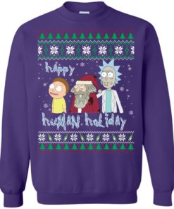 image 457 247x296px Rick and Morty: Happy Human Holiday Christmas Sweater