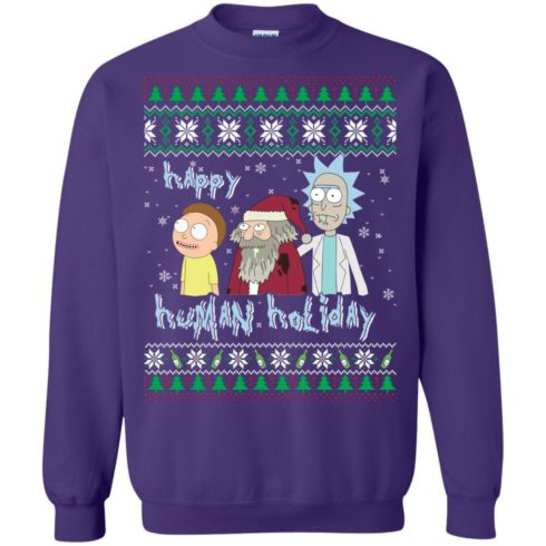 image 457 490x490px Rick and Morty: Happy Human Holiday Christmas Sweater