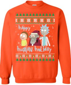 image 458 247x296px Rick and Morty: Happy Human Holiday Christmas Sweater