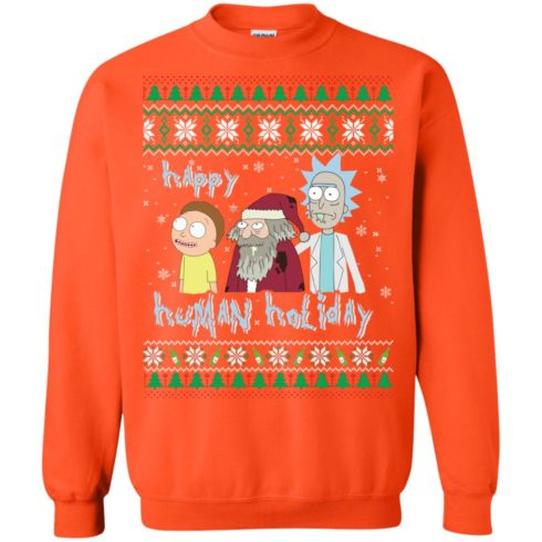 image 458 490x490px Rick and Morty: Happy Human Holiday Christmas Sweater