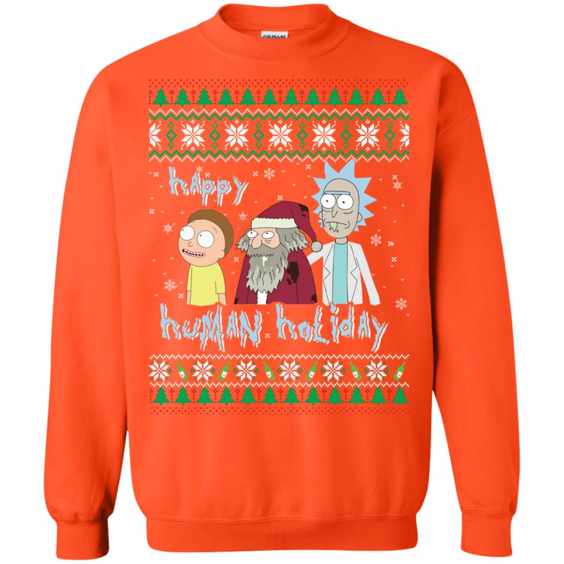 image 458px Rick and Morty: Happy Human Holiday Christmas Sweater