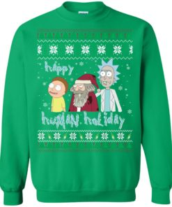 image 459 247x296px Rick and Morty: Happy Human Holiday Christmas Sweater
