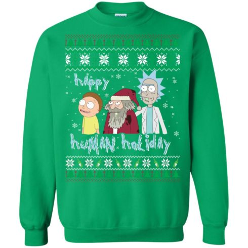 image 459 490x490px Rick and Morty: Happy Human Holiday Christmas Sweater