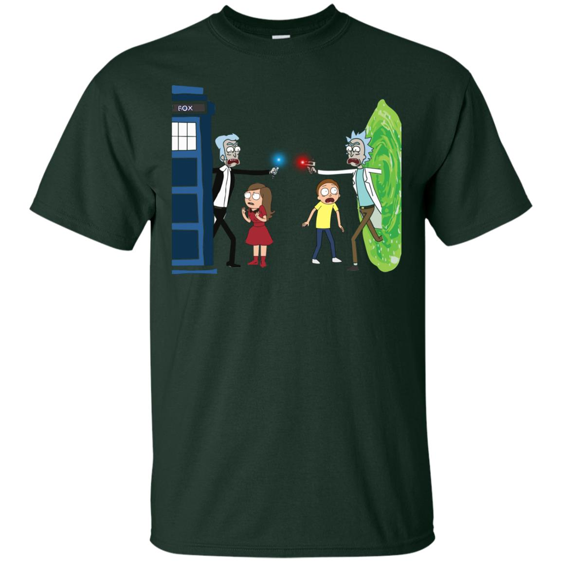 image 46px Doctor Who vs Rick and Morty Mashup T Shirts, Hoodies, Tank Top