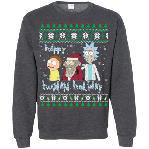 image 460 490x490px Rick and Morty: Happy Human Holiday Christmas Sweater