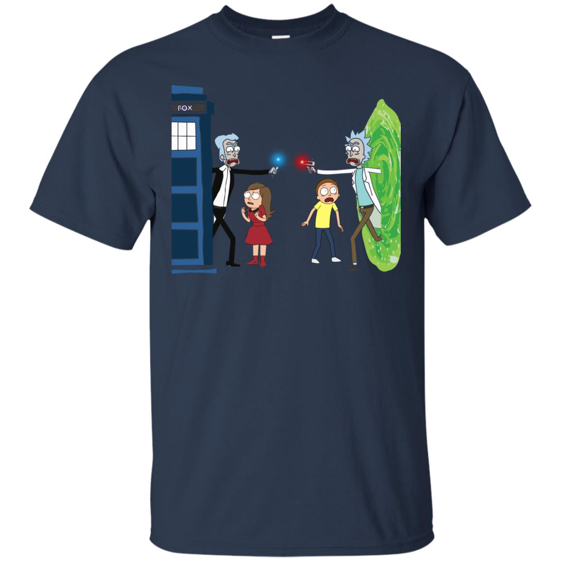 image 47px Doctor Who vs Rick and Morty Mashup T Shirts, Hoodies, Tank Top