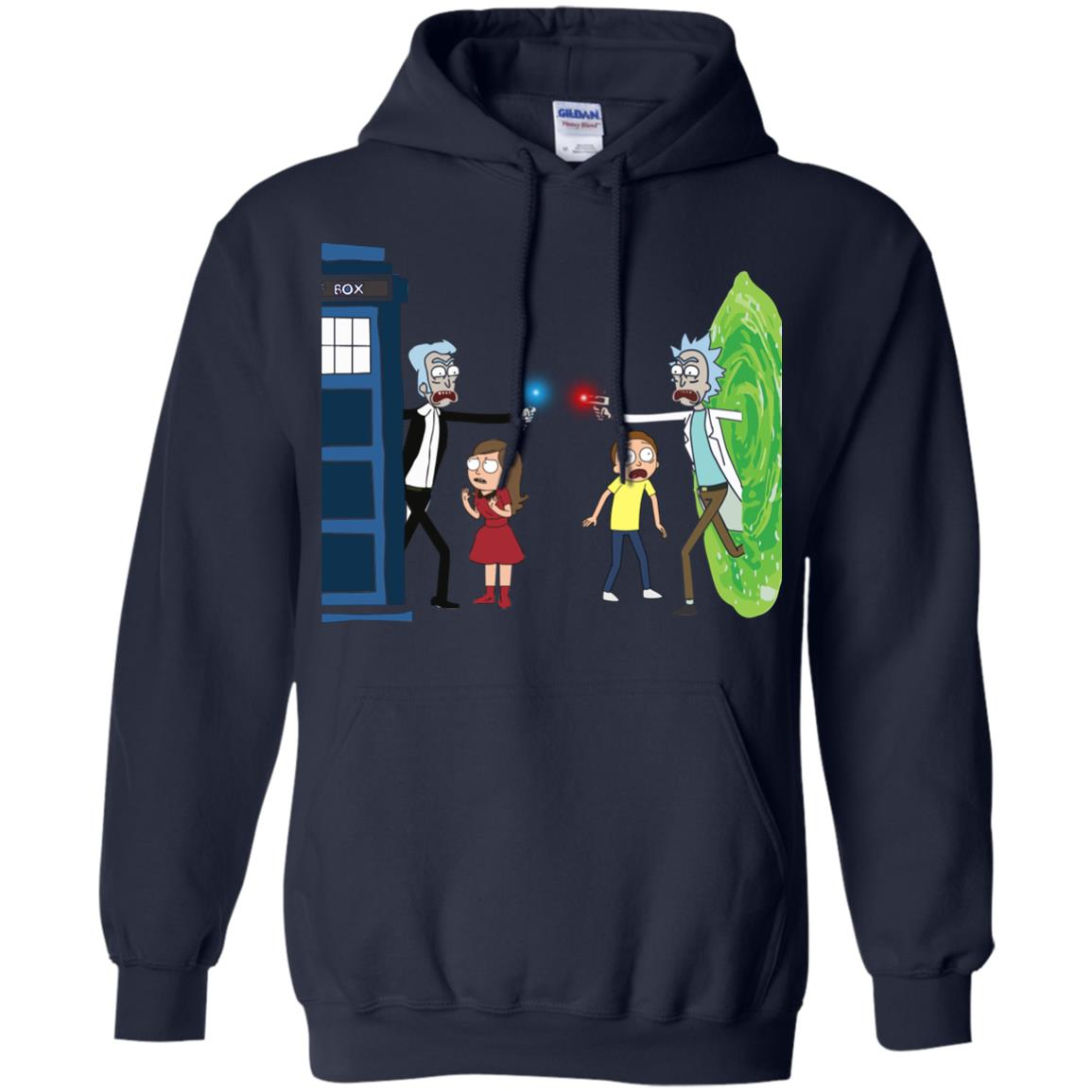 image 49px Doctor Who vs Rick and Morty Mashup T Shirts, Hoodies, Tank Top