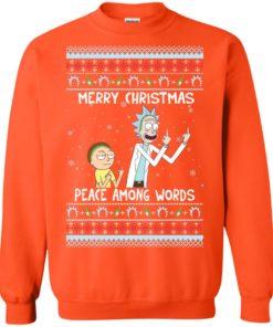 image 494 247x296px Rick and Morty Merry Christmas Peace Among Words Christmas Sweater