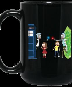 image 5 247x296px Doctor Who vs Rick and Morty Mashup Design Coffee Mug