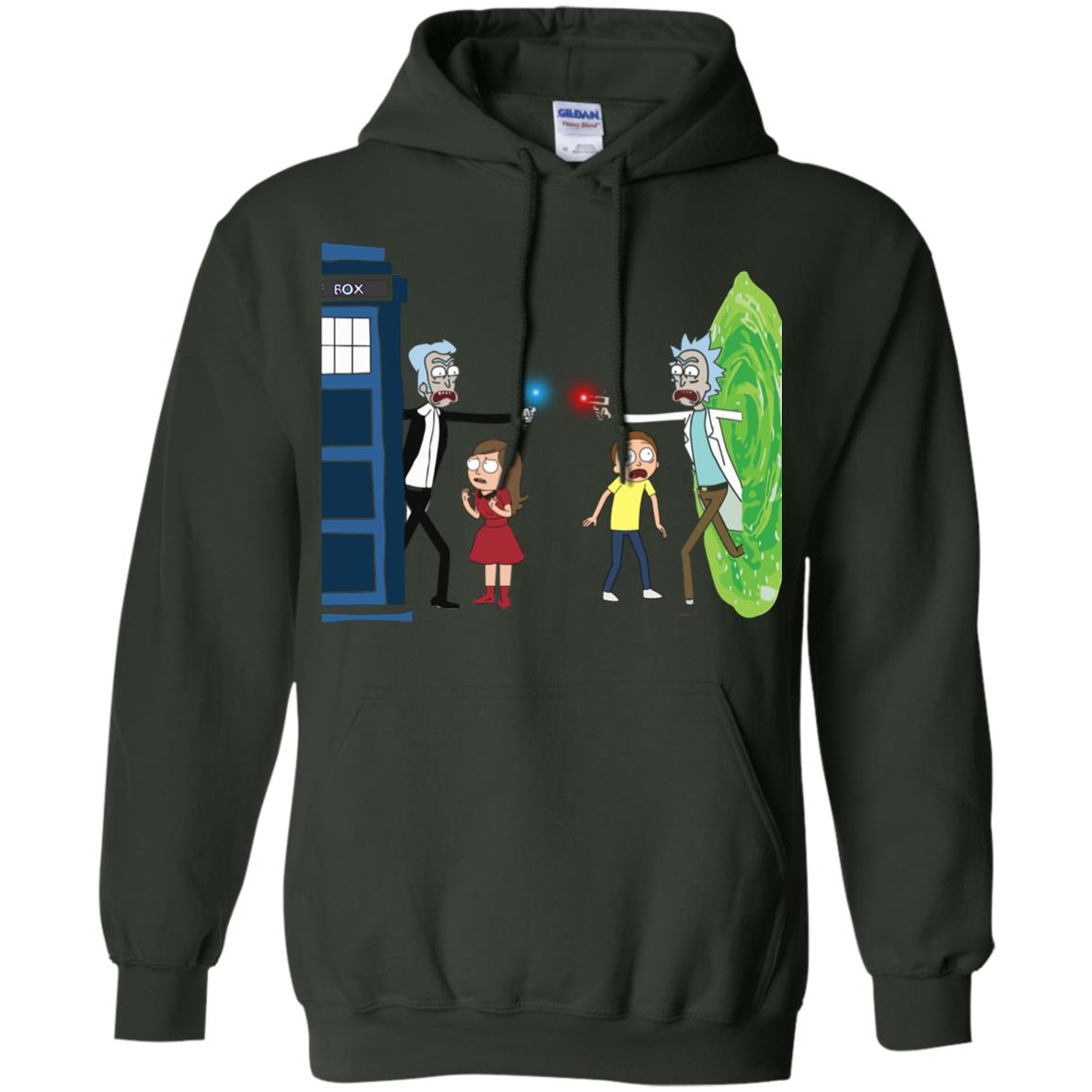 image 50px Doctor Who vs Rick and Morty Mashup T Shirts, Hoodies, Tank Top