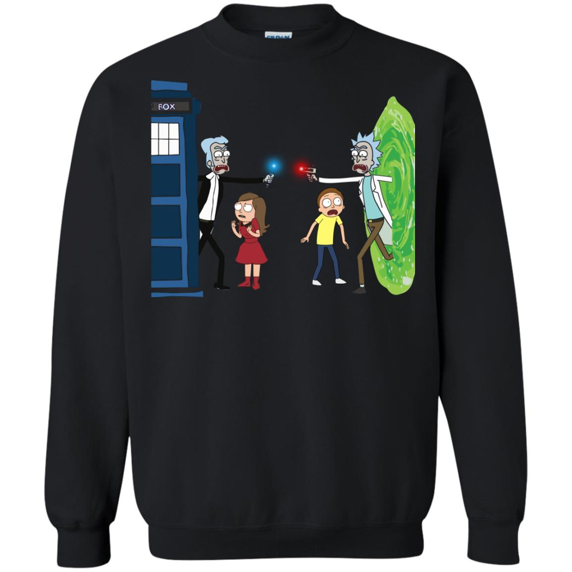 image 51px Doctor Who vs Rick and Morty Mashup T Shirts, Hoodies, Tank Top