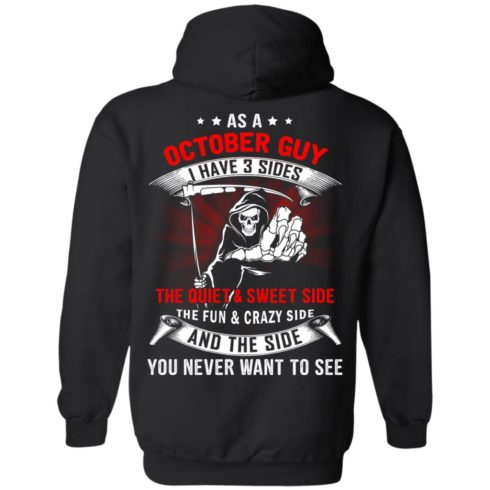 image 512 490x490px As a October guy I have 3 sides shirt