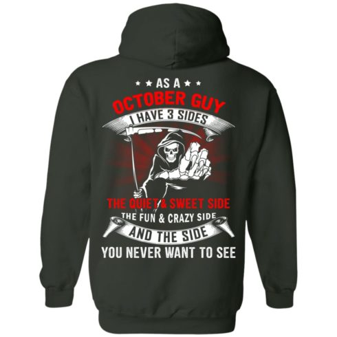 image 514 490x490px As a October guy I have 3 sides shirt