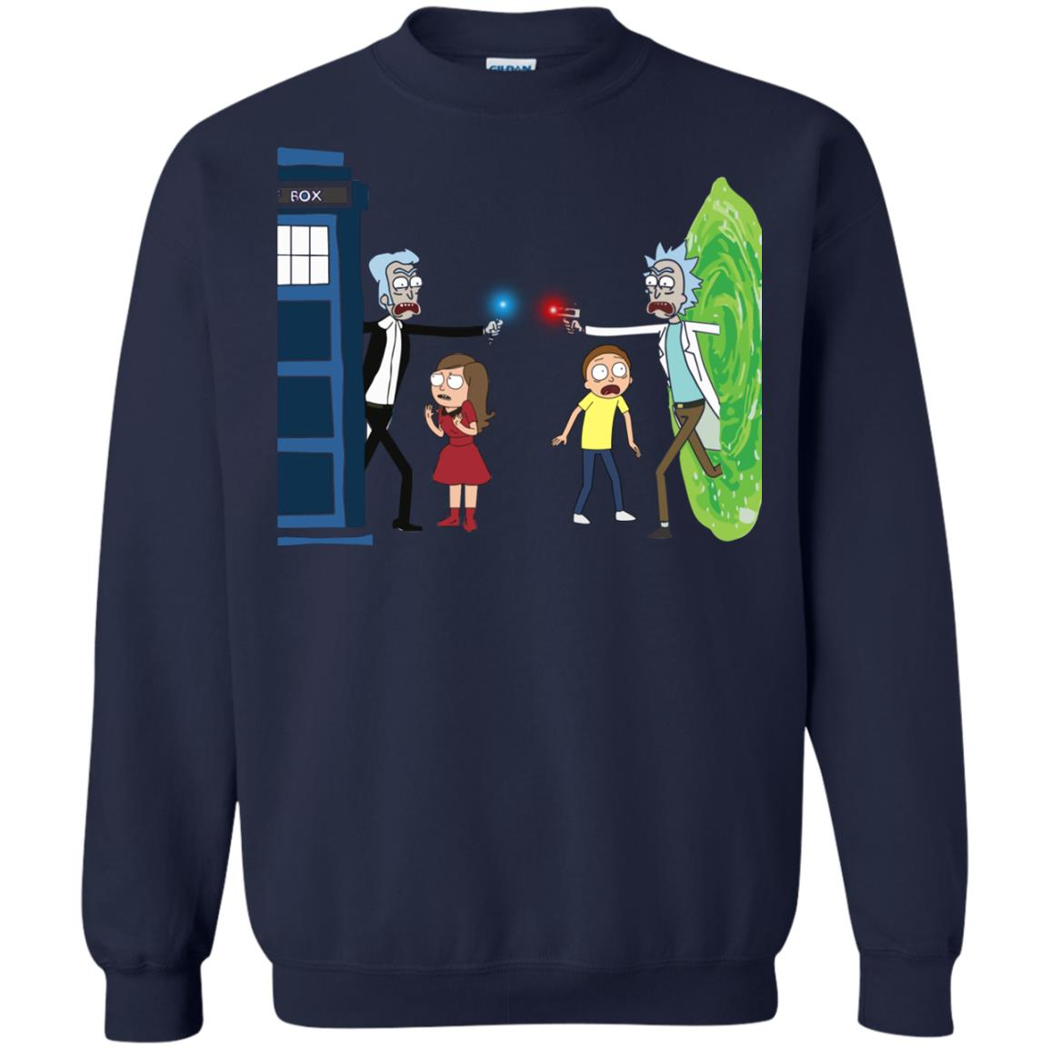 image 52px Doctor Who vs Rick and Morty Mashup T Shirts, Hoodies, Tank Top