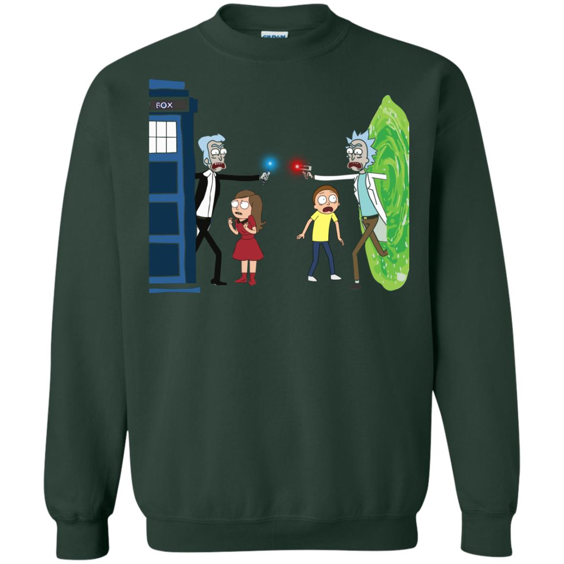 image 53px Doctor Who vs Rick and Morty Mashup T Shirts, Hoodies, Tank Top