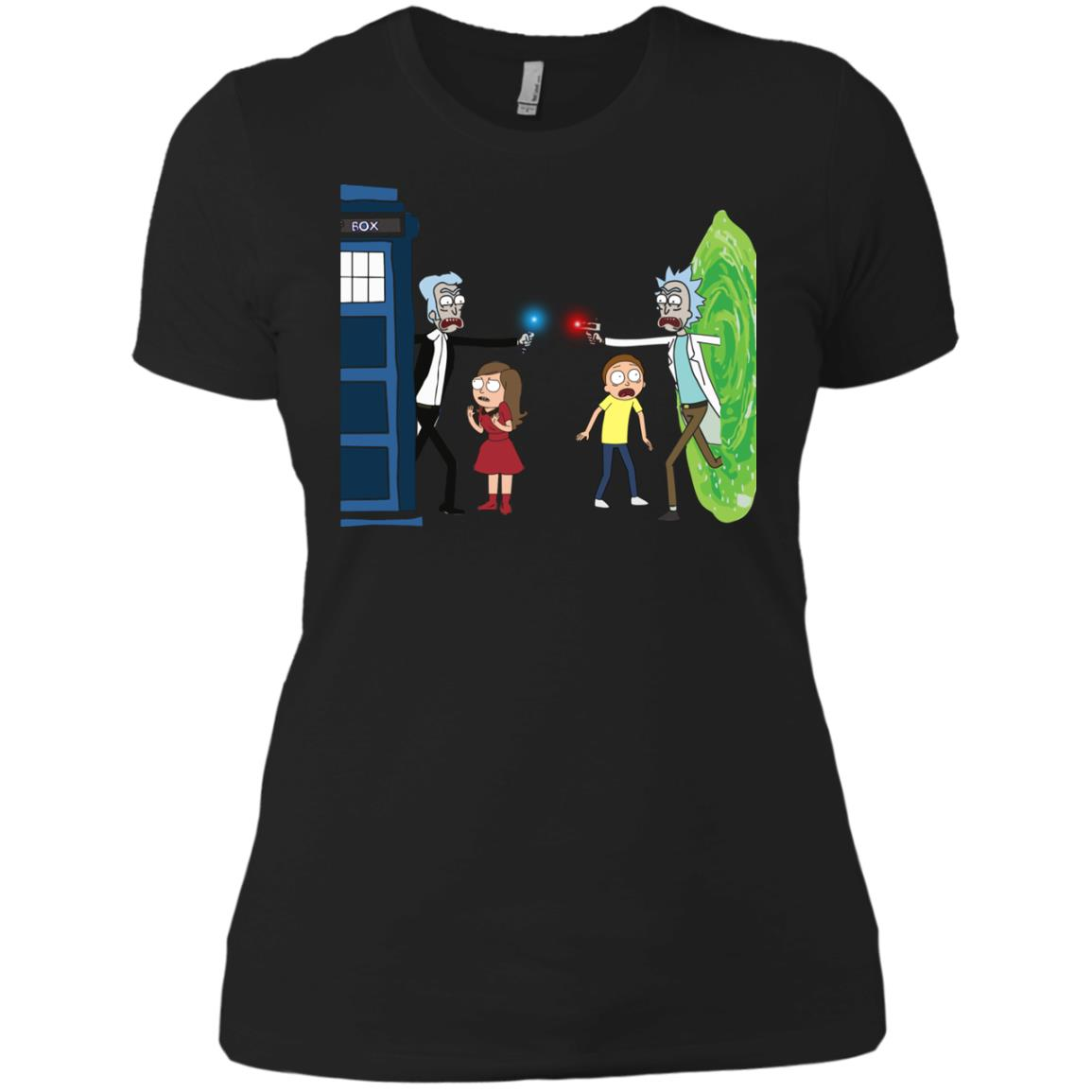 image 54px Doctor Who vs Rick and Morty Mashup T Shirts, Hoodies, Tank Top