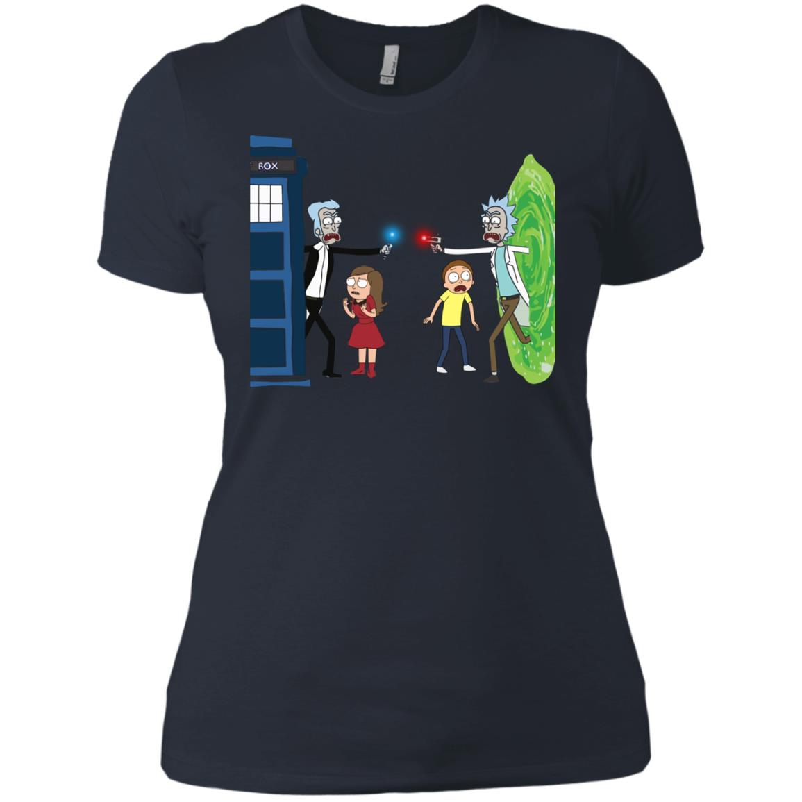 image 55px Doctor Who vs Rick and Morty Mashup T Shirts, Hoodies, Tank Top