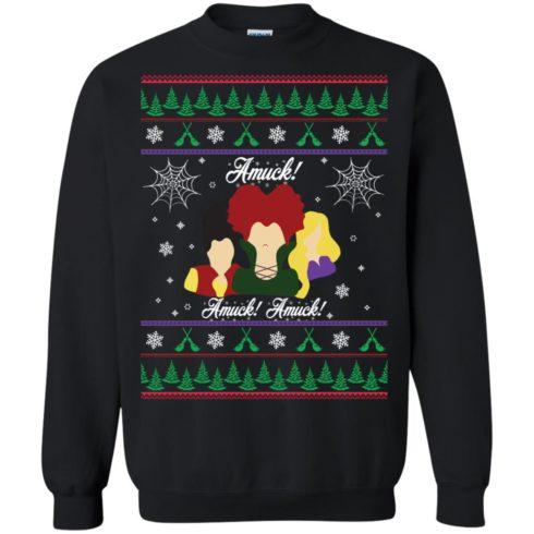 image 555 490x490px Hocus Pocus Amuck Ugly Christmas Sweater