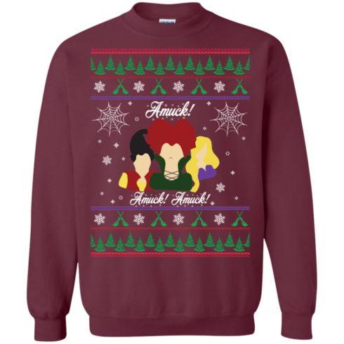 image 556 490x490px Hocus Pocus Amuck Ugly Christmas Sweater