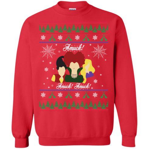 image 558 490x490px Hocus Pocus Amuck Ugly Christmas Sweater