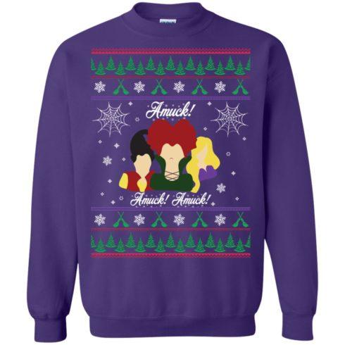 image 562 490x490px Hocus Pocus Amuck Ugly Christmas Sweater