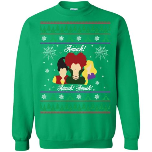 image 564 490x490px Hocus Pocus Amuck Ugly Christmas Sweater