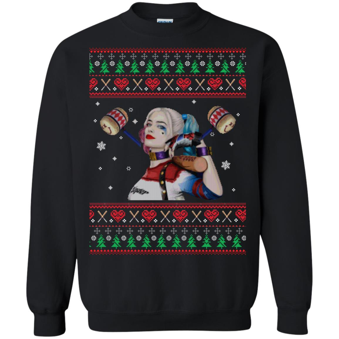 image 566px Harley Quinn Ugly Christmas Sweater Shirt