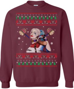image 567 247x296px Harley Quinn Ugly Christmas Sweater Shirt