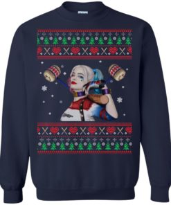 image 568 247x296px Harley Quinn Ugly Christmas Sweater Shirt