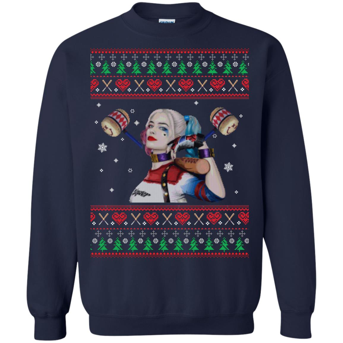 image 568px Harley Quinn Ugly Christmas Sweater Shirt