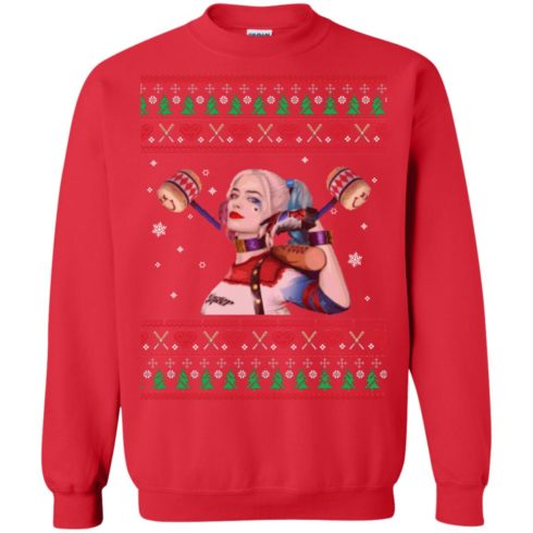 image 569 490x490px Harley Quinn Ugly Christmas Sweater Shirt