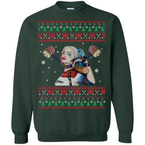 image 570 490x490px Harley Quinn Ugly Christmas Sweater Shirt