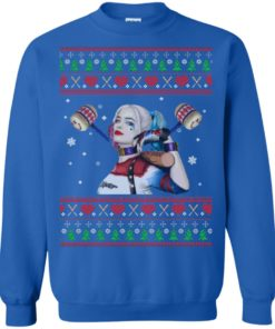 image 571 247x296px Harley Quinn Ugly Christmas Sweater Shirt