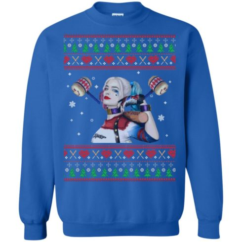 image 571 490x490px Harley Quinn Ugly Christmas Sweater Shirt